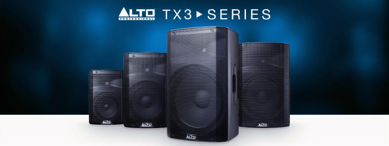 Sonido americano con la serie TX3 de Alto Professional: sonido para todas las ocasiones