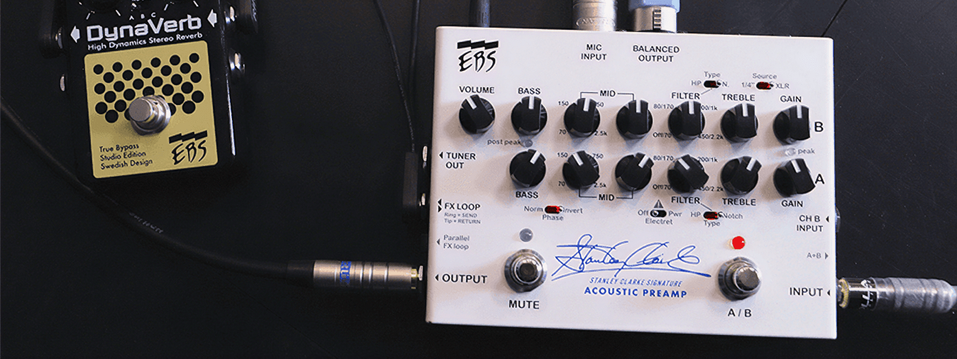 Renowned bassist Stanley Clarke continues his collaboration with EBS by unveiling a high-quality acoustic bass preamp,