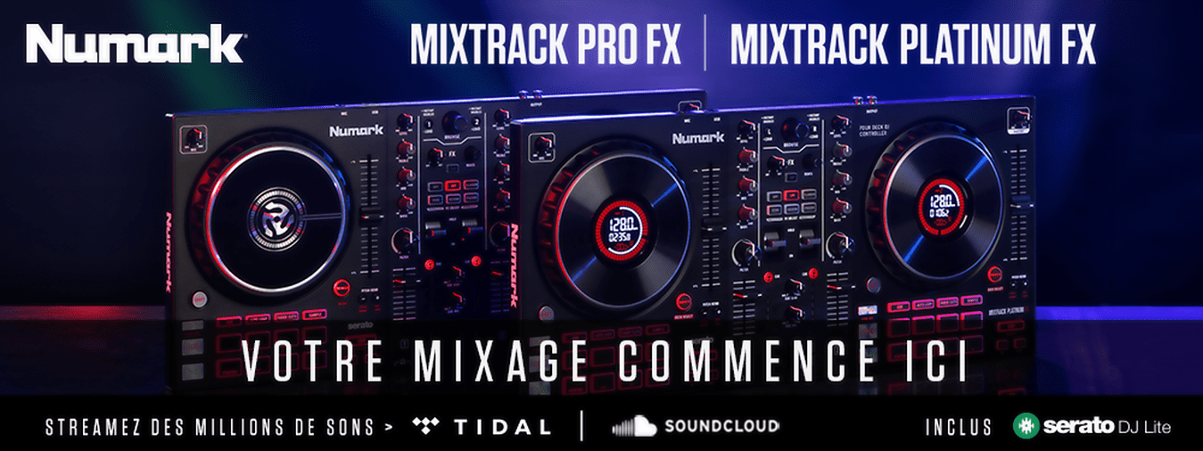 After the undeniable success of the Mixtrack Pro III, Numark strikes again very hard with this brand new 2-way DJ controller Mixtrack Pro FX.