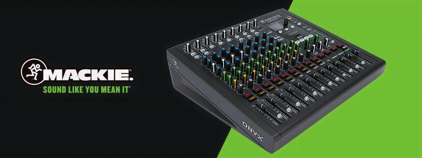 La marca Mackie da la bienvenida a nuevos modelos, tanto mezcladores analógicos como interfaces de audio multipista, a su serie Onyx.