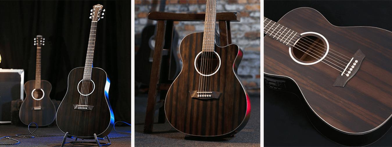 Entdecken Sie die Marke Washburn, Marktführer in der Welt der USA Gitarre, die in Reichweite aller Gitarristen ein leistungsfähiges und hochwertiges Material stellt.
