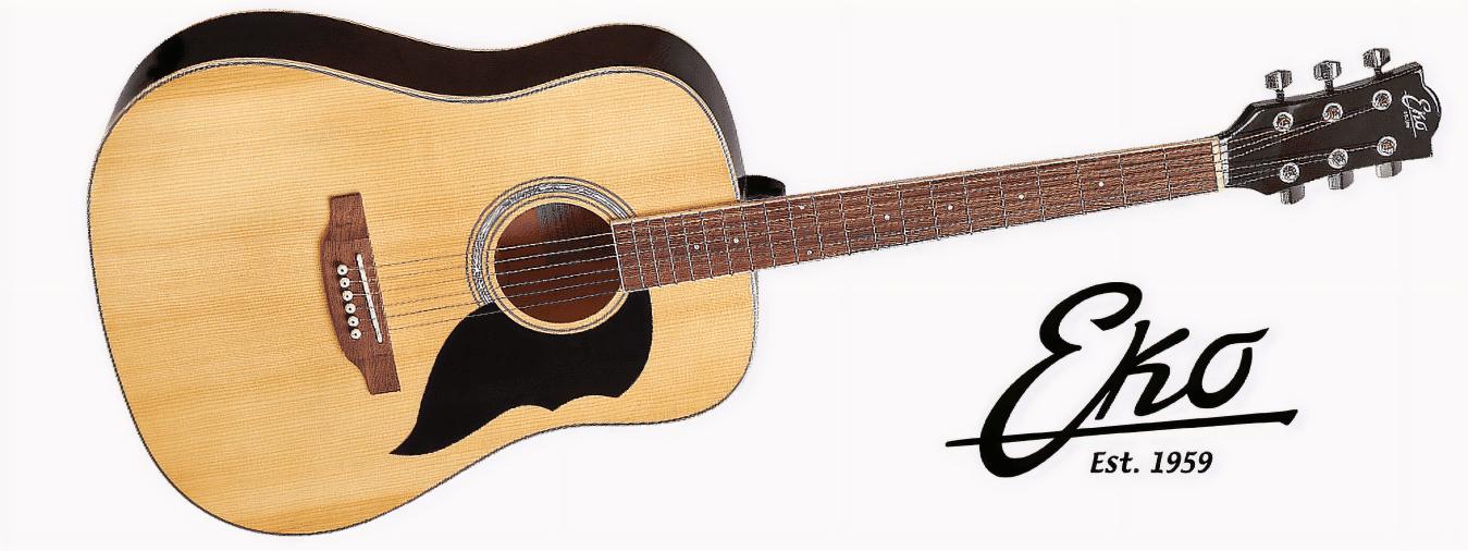 Entdecken Sie die Marke Eko, den italienischen Marktführer in der Welt der Gitarre, der allen Gitarristen leistungsstarkes und hochwertiges Equipment bietet.