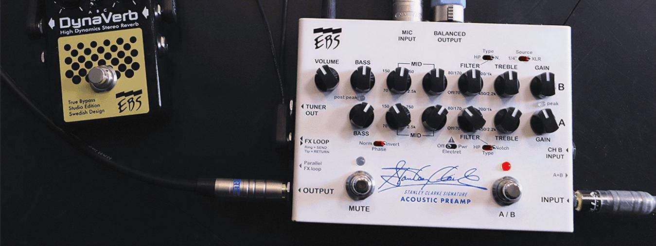 El renombrado bajista Stanley Clarke continúa su colaboración con EBS al presentar un preamplificador de bajo acústico de alta calidad,