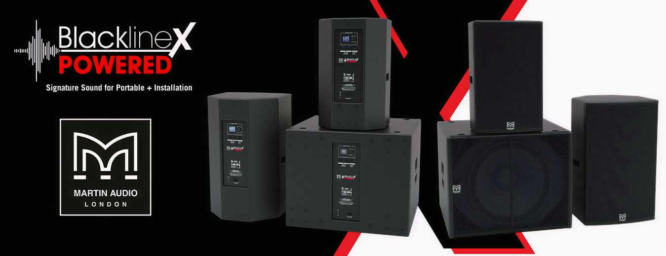 The new BlacklineX Powered portable series incorporates all the engineering expertise of easy-to-use high-power speakers