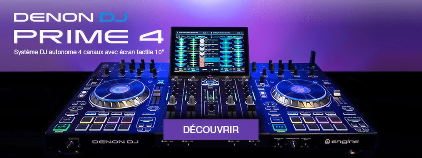 Sistema de DJ autónomo de 4 vías con tecnología Engine Prime