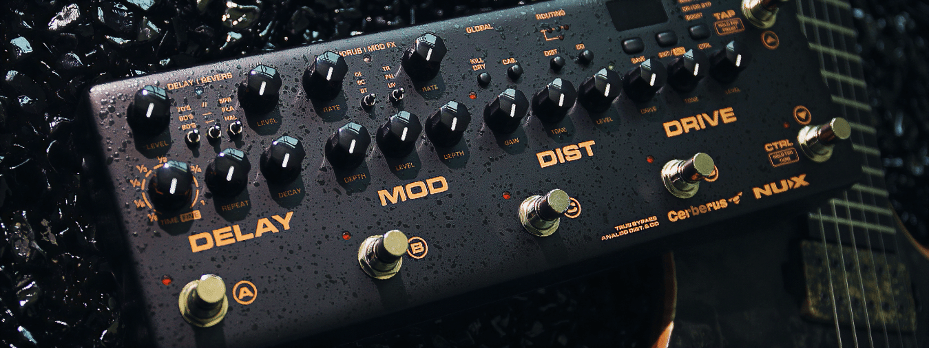 The Cerberus is an ultra-complete multi-function effects and control pedal