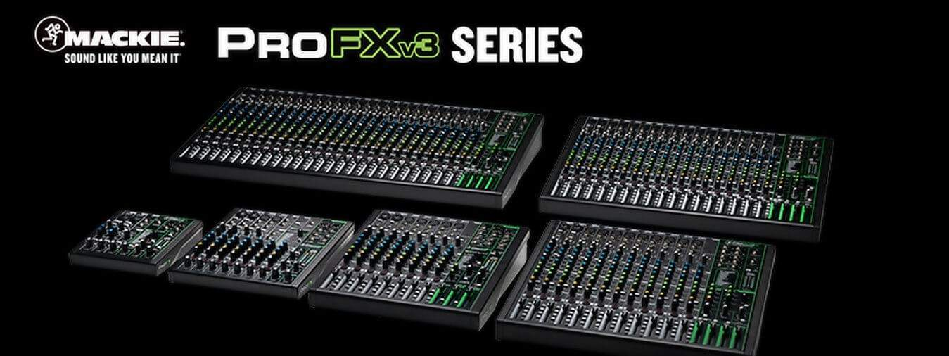 Even more pro, even more effects Mackie mixers still a reference for live mixing or studio