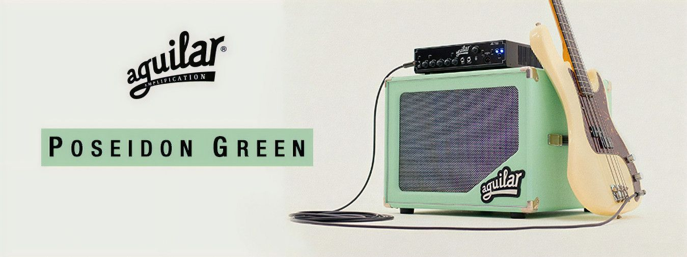 The new range of baffles pour amp bass Aguilar in color Poseidon Green